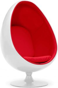 Capsull Design Fauteuil Oeuf Ball pod Chair - Rouge
